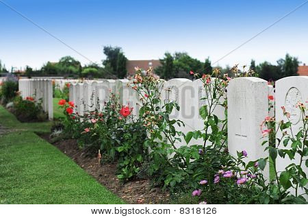 Graves at Tyne Cot, Flanders