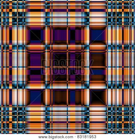Funky Contrasting Gingham Pattern In Blue, Violet And Orange