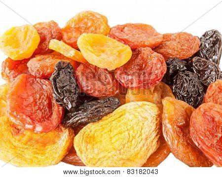 Dried Apricots, peaches, plums, prunes, pears