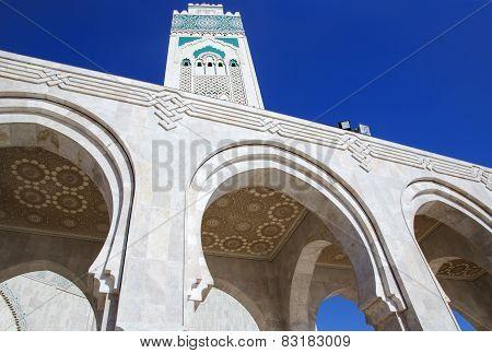 The Mosque of Hassan II in Casablanca