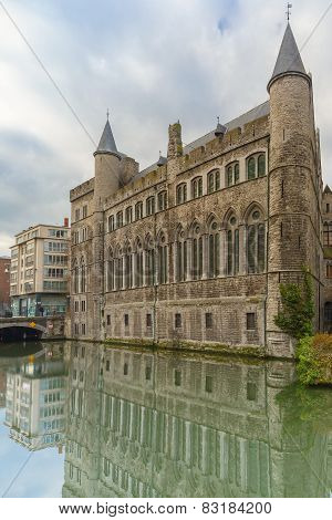 Medieval Castle of Gerald the Devil in Gent, Belgium
