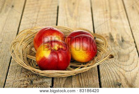 Nectarines In Basket
