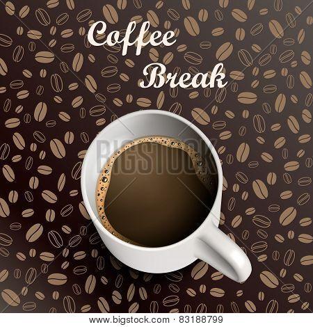 Mug coffee background