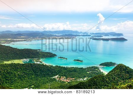 Aerial view of Langkawi island, Malaysia