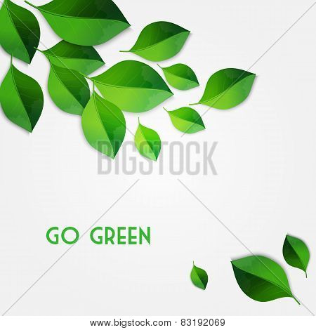 Spring green leaves background. Go green concept