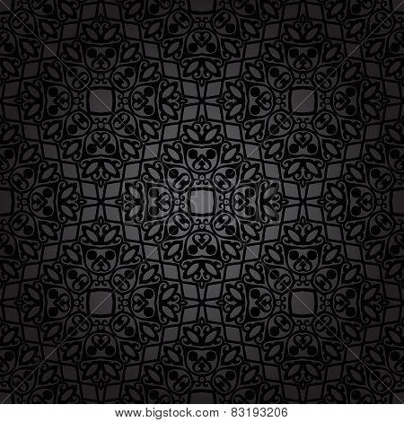 Luxury damask seamless motif . Vector