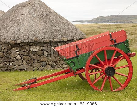 Cart And A Hut
