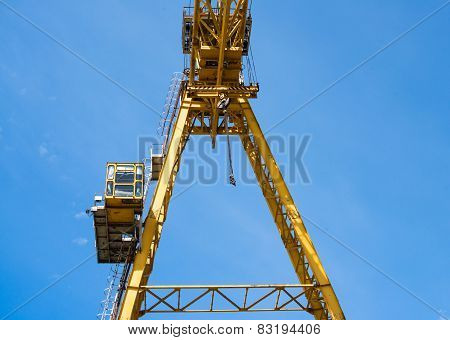 Gantry Crane Against The Blue Sky