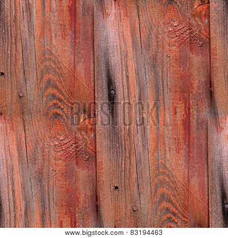 Seamless red background texture old wood boards wood