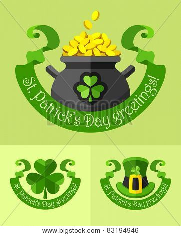 Emblems for saint patricks day. Eps10 vector illustration