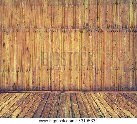wooden interior, retro filtered, instagram style