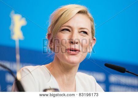 BERLIN, GERMANY - FEBRUARY 13: Cate Blanchett, 'Cinderella' press conference, 65th Berlinale International Film Festival at Grand Hyatt Hotel on February 13, 2015 in Berlin, Germany