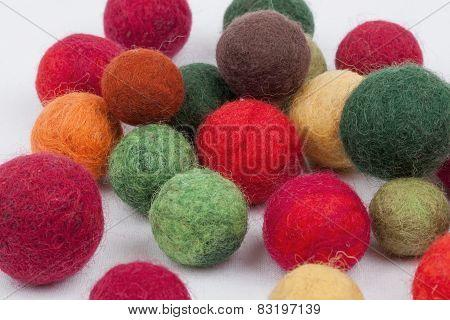 Multi-colored cotton balls