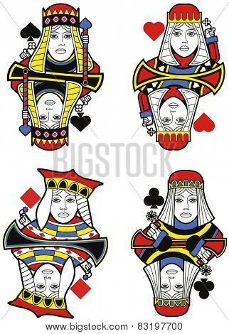 Four Queens without cards. Original design
