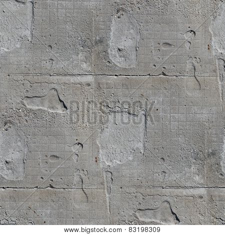seamless texture square of old stone wall with a crack backgroun