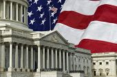 pic of capitol building  - The United States Capitol Building in Washington DC with a U - JPG