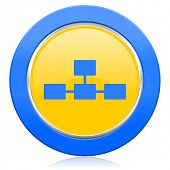 pic of cisco  - database blue yellow icon   - JPG