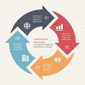 picture of diagram  - Circular infographics template for cycling diagram - JPG