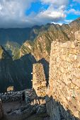 pic of andes  - Guardhouse in Machu Picchu Andes Sacred Valley Peru - JPG