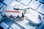 foto of keyboard  - broken security lock on computer keyboard  - JPG