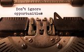 picture of ignorant  - Vintage inscription made by old typewriter don - JPG