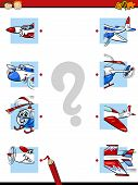 pic of brain teaser  - Cartoon Illustration of Education Halves Matching Game for Preschool Children - JPG