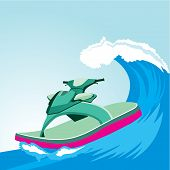 pic of jet-ski  - Shoes in the form of a jet - JPG