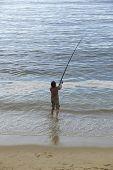 picture of fishermen  - fisherman at the sea - JPG