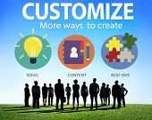 stock photo of modification  - Customize Ideas Identity Individuality Innovation Personalize Concept - JPG