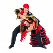 image of gypsy  - Gypsy flamenco dancer couple - JPG