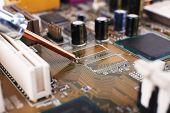 pic of rework  - Repairing of computer motherboard - JPG