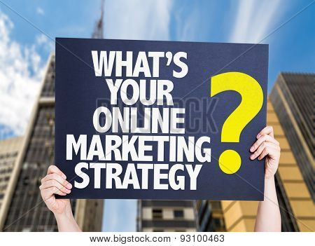 Whats Your Online Marketing Strategy? card with urban background