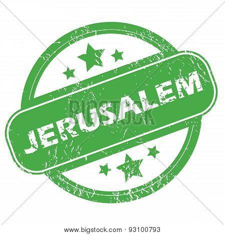 Jerusalem green stamp