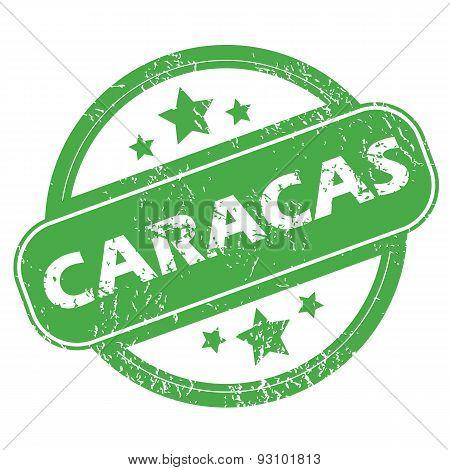 Caracas green stamp
