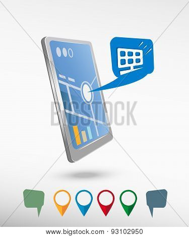 Solar Panel And Perspective Smartphone Vector Realistic
