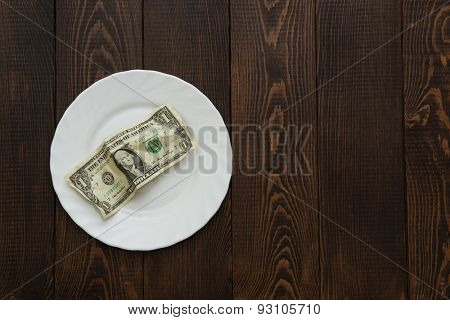 Financial hunger. Concept photo