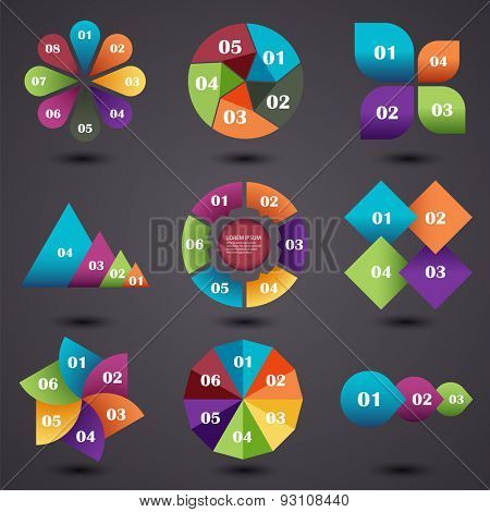 Vector illustration set of infographics