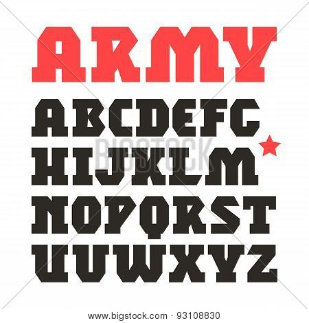 Serif Geometric Military Font