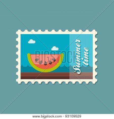 Watermelon Slice Flat Stamp, Summertime