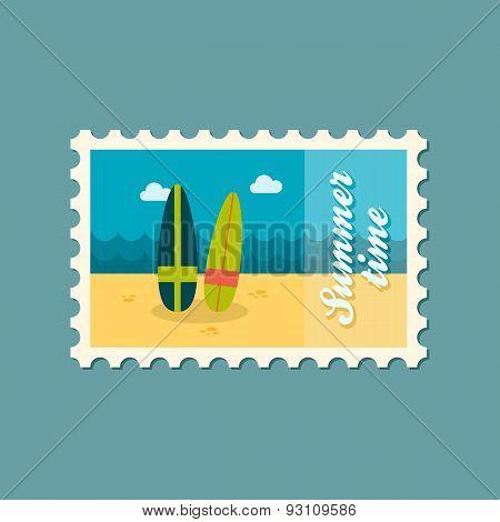 Surfboard Flat Stamp, Summertime