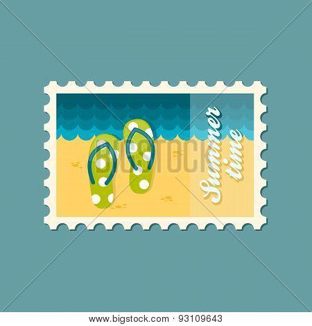 Flip Flops Flat Stamp, Summertime