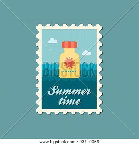 Sunscreen Flat Stamp, Summertime
