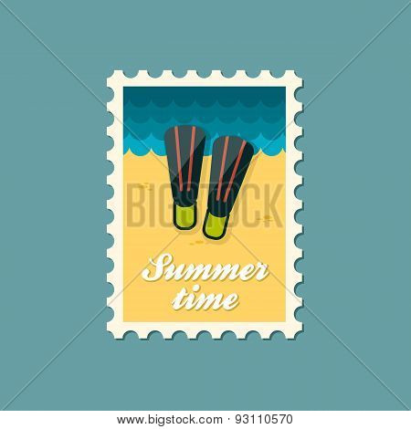 Flippers Flat Stamp, Summertime