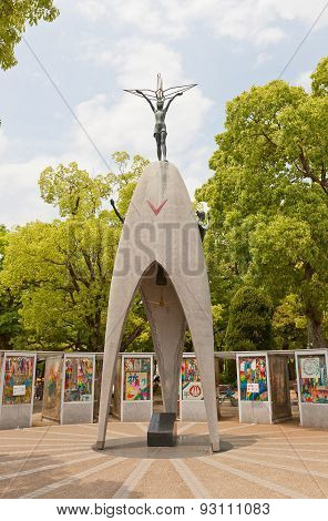 Childrens Peace Monument In Hiroshima, Japan