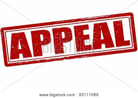Rubber stamp with word appeal inside vector illustration