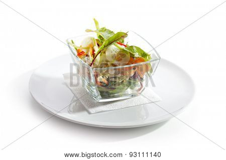 Vegetarian Salad with Carrot and Cucumber