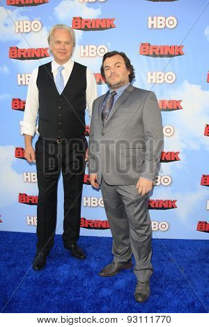 LOS ANGELES - JUN 8:  Tim Robbins, Jack Black at the HBO's