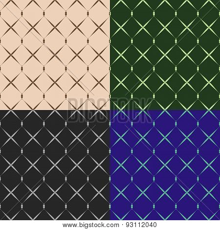 Set Color Of Seamless Grid Pattern
