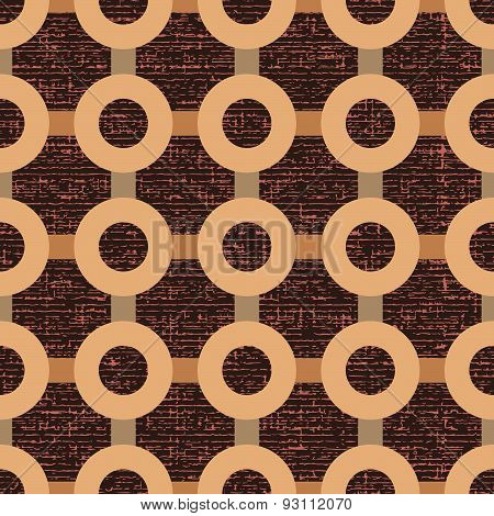 Seamless Pattern Of Stripes And Circles