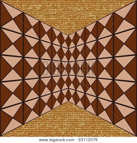 Seamless Geometric Pattern Of Squares And Triangles
